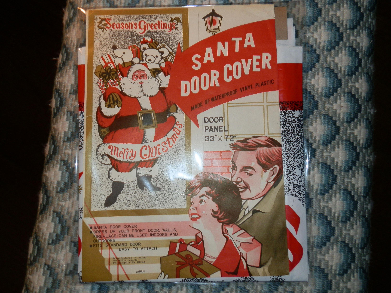 Description. This is a vintage Santa Door Cover. & Vintage Santa Door Cover-Japan