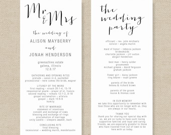 wedding program template for word - Roho.4senses.co