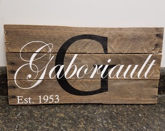 Personalized Wood Sign, Last Name  Sign, Pallet Wood Sign, Wedding Gift , Family Name Sign, Rustic Sign, Established Date Sign