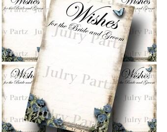 Le Jardin BLUEBELL Wedding Wish Tags, Wish Tree Cards, Printable, DIY Weddings, Bridal Shower, Wedding Shower, Wedding Decoration