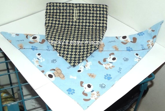CLEARANCE SALE 50% OFFPuppy Bows~2 over the collar dog pet bandana blue large love ~US Seller