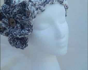Headband / ear warmer with flower