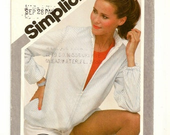 """A Reversible Zip Front Jacket Pattern with Stand-Up Collar and Bottom Hemline Drawstring for Women: Size 10, Bust 32-1/2"""" • Simplicity 9978"""