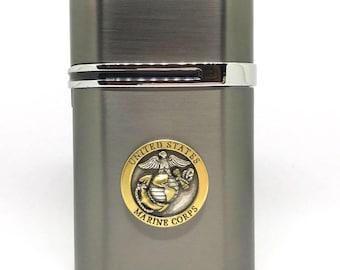 US Marines Desktop Lighter – 1″ Bronze/Two-Tone