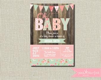 Baby Shower Invitation, Shabby Chic ...
