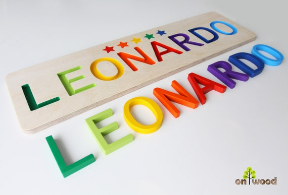Personalized baby gifts wooden name puzzle baby name negle Image collections