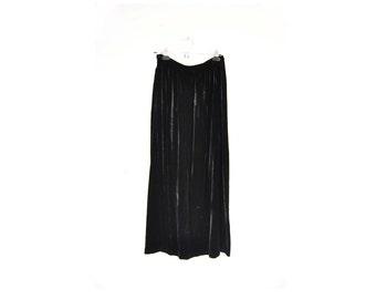 90s Goth Crushed Velvet Maxi Skirt