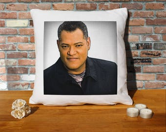 Laurence Fishburne Pillow Cushion - 16x16in - White
