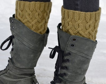 Knitted boot cuffs etsy cabled boot cuffs knitting pattern pdf 4 way knitted boot cuffs pattern knit dt1010fo