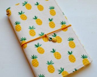 B6, a5, a6, Regular Fabric Cover Fauxdori - Juicy Pineapple, Travelers Notebook, Midori, Cover fabric, Fabric Midori book, Field Note