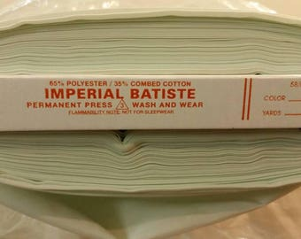 Imperial Batiste Light Pastel Green 60 inches wide