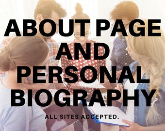 Etsy Store About Page - Website About Business Page - Owner About Page - Business About Page - All Sites Accepted - Website Content Writing