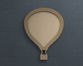 Frame Kit, Hot Air Balloon, Wood Frame, Picture Frame, DIY