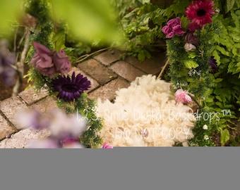 Floral Swing Digital Backdrops x2