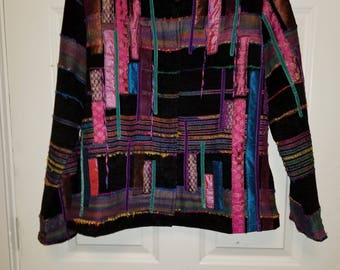 Abstract Graphic Multicolored Jacket