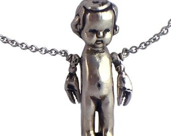 Necklace Scorpio Doll    baby silver gold sterling jewelry lobster crab