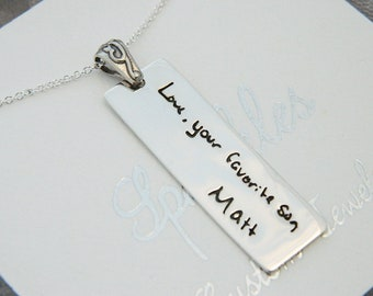 Handwriting in Memory Personalized in Sterling Silver