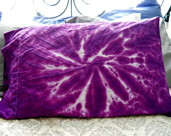 Tie dye cotton pillow case