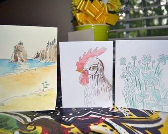 Custom art cards