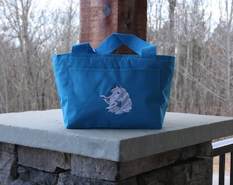 Personalized Horse Lunch Bag Monogrammed Insulated Lunch Tote