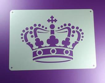 Schablone Krone Crown Krönchen Königskrone - BE04