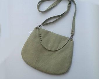 Green faux leather bag, Green Cross body bag, Green vegan crossbody bag, Messenger bag ,Green Messenger bag, Green Shoulder bag, vegan bag
