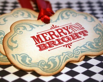 Christmas Tags - Merry and Bright - Set of 20