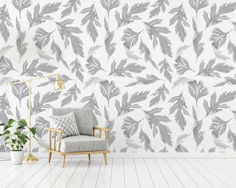 Fallen Leaves - Adhesive Wallpaper - Removable Wallpaper - Wall Sticker - Wall Mural - Customizable Wallpaper