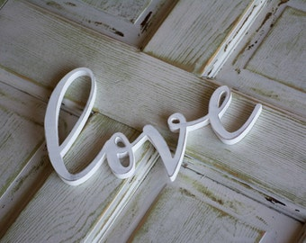 Love Sign, Wood Home Decor, Gallery Wall, Wooden Love Sign