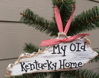 My Old Kentucky Home Christmas ornament