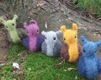 Snail plush toy, toy snail,  hand knit and felted snail stuffed animal, amigurumi snail, mollusks, custom colors available