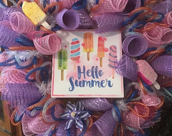 Hello Summer - Popsicles and Pinwheels.
