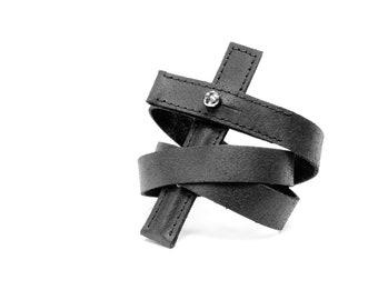 "Leather bracelet ""Cross"""