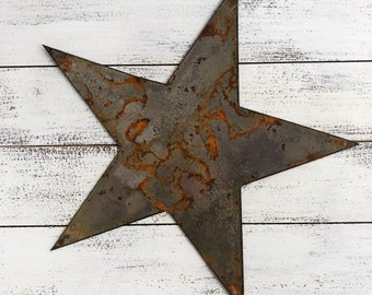 """Star - 6"""" Rusty Metal STAR! Make your own Sign, Gift, Art!"""