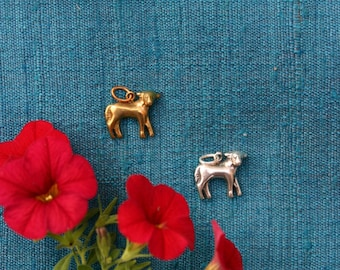 Lamb Milagro in Sterling Silver or Yellow Bronze