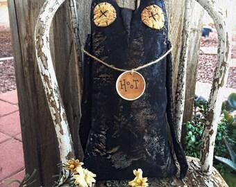 XXL Primitive owls - primitive owl - home decor - primitive decor