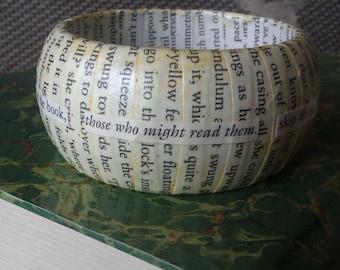 Reader inspired Literary Bangle