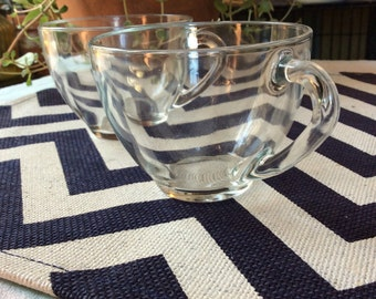 Arcoroc France Glass Teacups, set of two