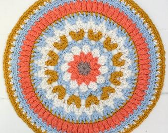 Crochet Mandala Pattern Mandala Doily pattern,Crochet Doily, Suzy Mandala - Instant Download PDF Crochet Pattern Tutorial