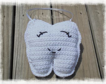 Tooth Fairy Pillow, Crochet Tooth Fairy Pillow, Tooth Fairy, Hanging Tooth Fairy Pillow, Tooth Pillow