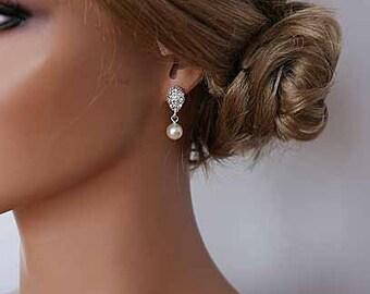 Sterling Silver Pearl Earrings Pearl Drop Earrings Best Gifts For Her