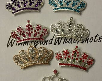 Rhinestone Flatback Tiaras in 7 different colors