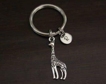 Giraffe Key Ring/ Keychain / Zipper Pull - Giraffe Gift - Giraffe Lover - Zoo Animal Gift - Safari Gift - I/B/H