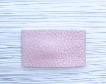 Snap Clip// Hair Bow// Light Pink Pebbles