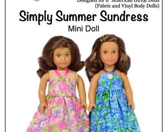Pixie Faire Love U Bunches Simply Summer Sundress For 6 inch Mini AG Dolls - PDF