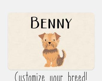 Custom Dog placemat, pet placemat, dog gift, dog mat, pet gift, dog gift, dog placemat, personalized pet mat