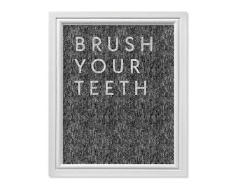 Brush Your Teeth Signs, Brush Your Teeth Poster, Teeth Print, Chalkboard Art, Hygiene Rules, Brush Wall Art, Bathroom Rules, Bathroom Print