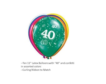 40th Latex Balloons