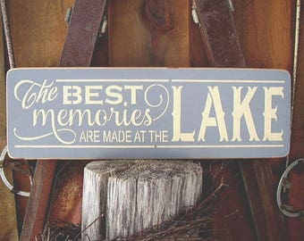 Lake House Sign, Lake House Gift, Lake House Decor, Nautical Sign, Lake Sign, Lake Decor, Rustic Lake Sign, Nautical Wall Decor, Wood Signs