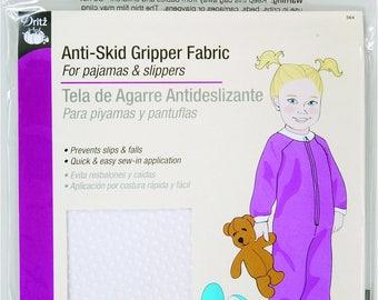 "Gripper Fabric - Grip-tight Cloth Non Slip Dots On 1 Side - Dritz Prym - White - Precut 11""x24"""